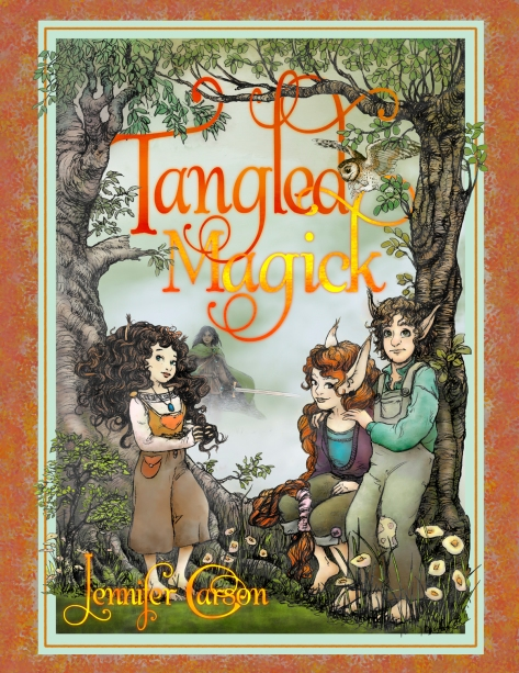 The cover for Tangled Magick, the Sequel to Hapenny Magick!